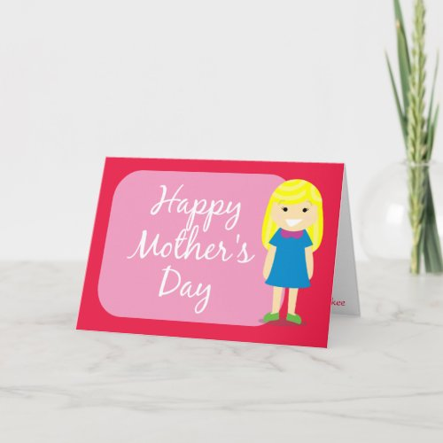 Happy Mother's Day greeting from a daughter zazzle_card
