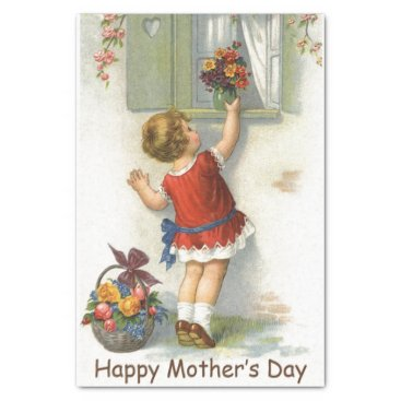 Happy Mothers Day - Vintage Tissue Paper