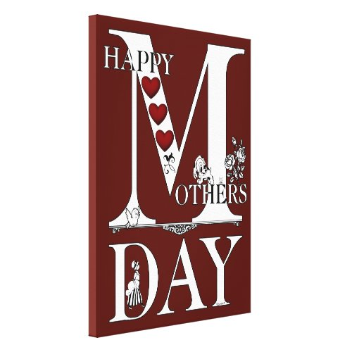 Happy Mothers Day Wrapped Canvas