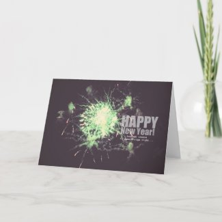 Happy New Year (fireworks) card