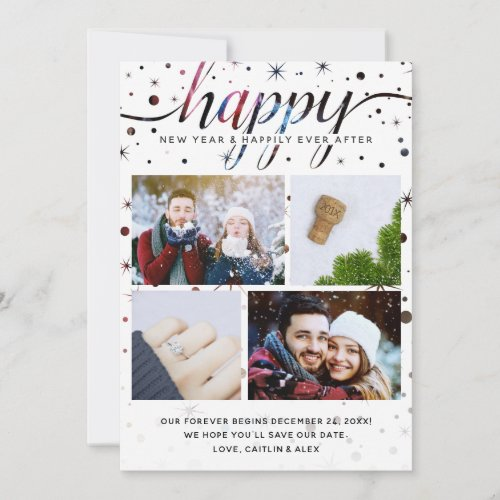 HAPPY News Holiday Card + Color-Matched Typography