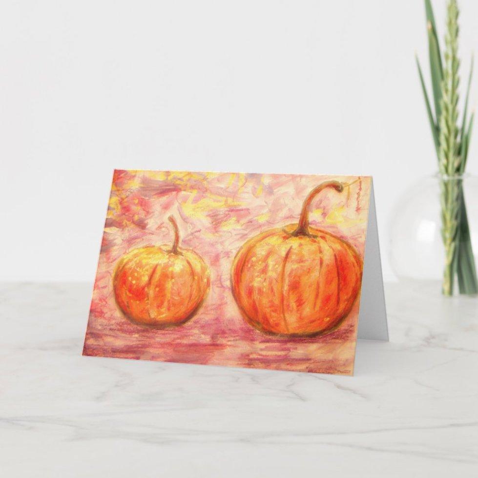 Happy Pumpkin Day Art holiday card