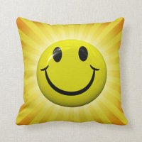 Custom Face Pillow. Happy Smiley Face Pillow Zazzle ...
