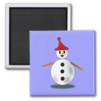 Happy Snowman Magnet