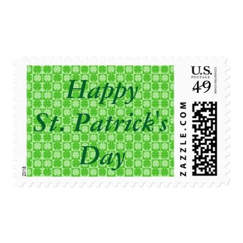 Happy St. Patrick's Day Shamrock Postage