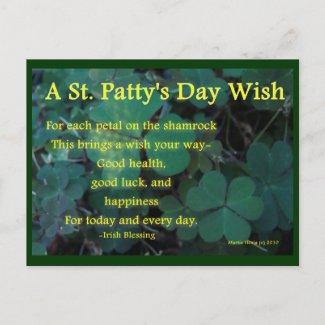 Happy St. Patty's Day - Shamrock (1) - Postcard