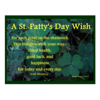 Happy St. Patty's Day - Shamrock (1) - Postcard