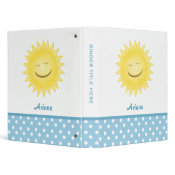 Happy Sunshine & Polka Dot Personalized Binder