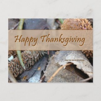Happy Thanksgiving (3) Postcard postcard