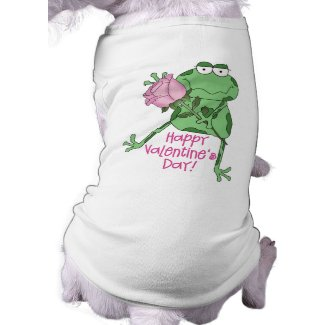Happy Valentine's Day Frog Dog T-shirt