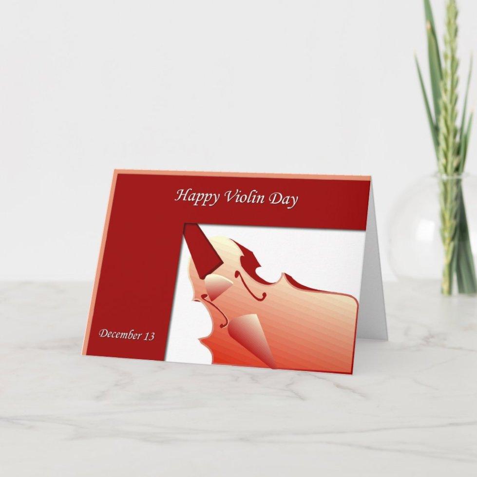 Happy Violin Day Card December 13