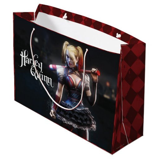 Harley Quinn With Bat Large Gift Bag Zazzle