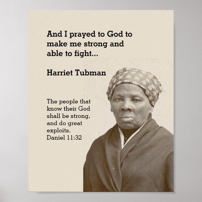 harriet tubman quote custom scripture motivational poster zazzle com