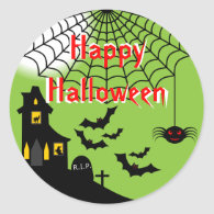 Haunted Halloween Stickers