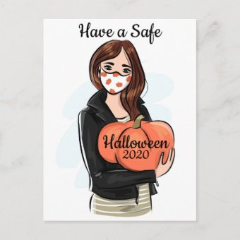 Have a Safe Halloween 2020 Holiday Postcard