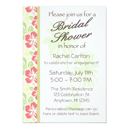 Hawaiian Luau Bridal Shower Invitation