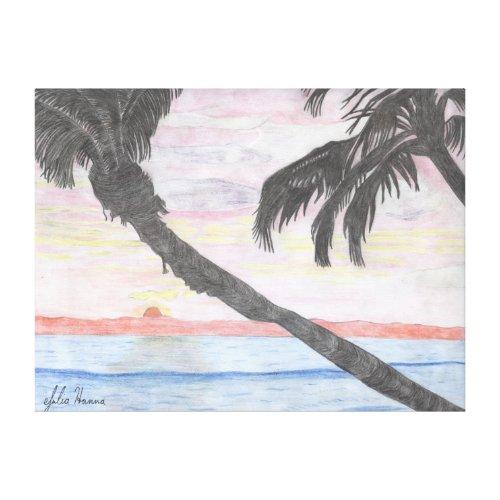 Hawaiian Sunset by Julia Hanna wrappedcanvas
