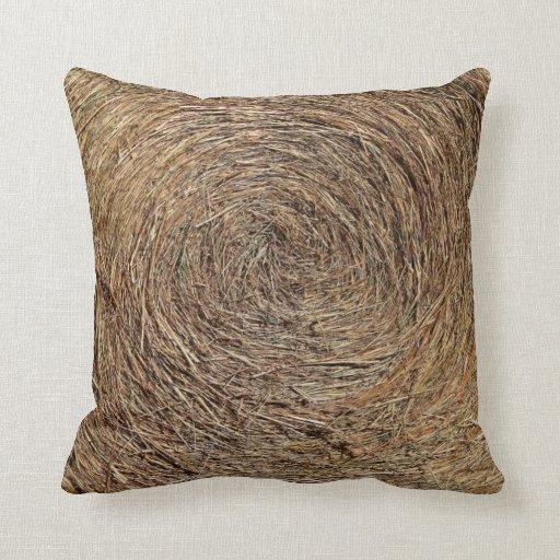 Hay Bale Barn Theme Throw Pillow  Zazzle