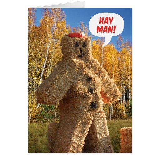 Hay Man Happy Birthday Fall Birthday Card Zazzle