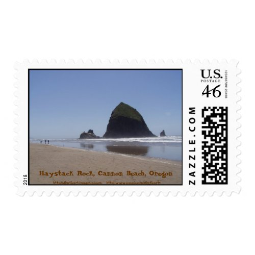 Haystack Rock, Cannon Beach, Oregon stamp