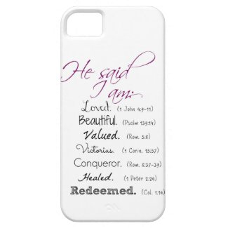 He said I am...: Christian iPhone Cover iPhone 5 Case