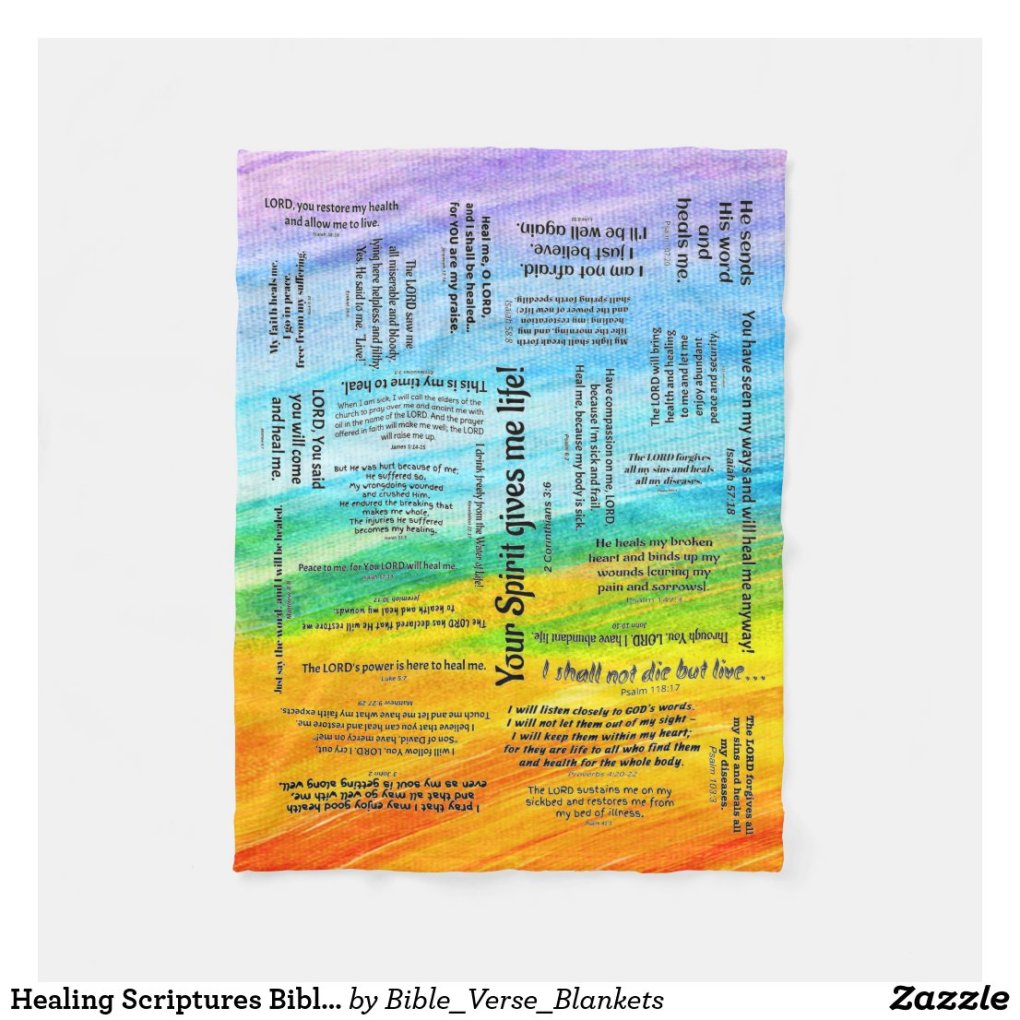 Healing Scriptures Bible Verse Fleece Blanket