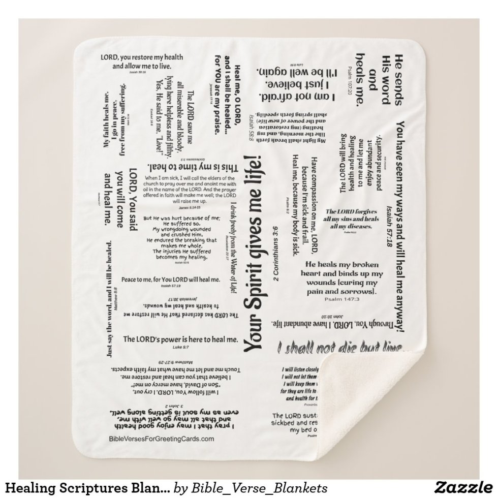 Healing Scriptures Blanket - customizable