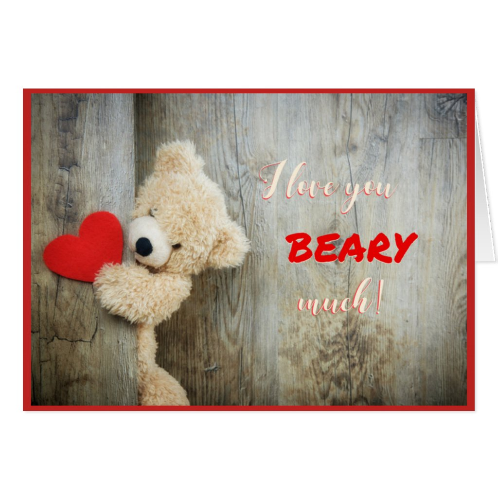 Heart Bear Valentine Card
