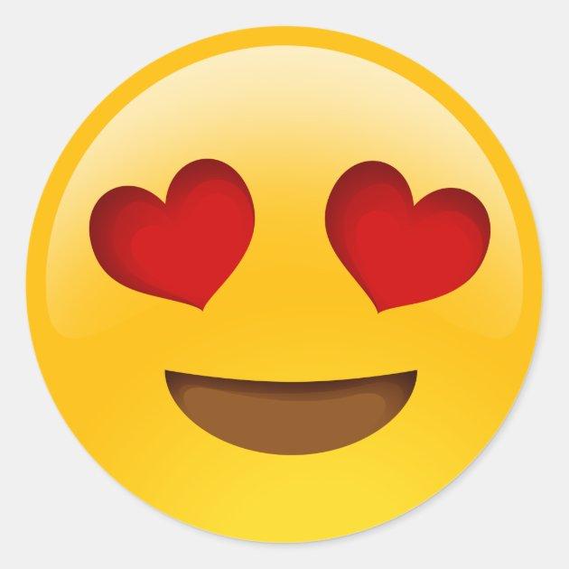 Heart Eyes Emoji Stickers Zazzle