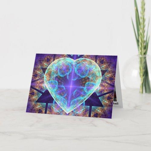 Heart Fractal Art Greeting Card