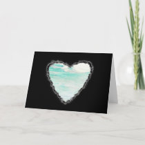 Heart in the Clouds Valentine Romance Love Card