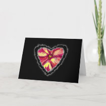 Heart is a Flower Valentine Love Romance Card