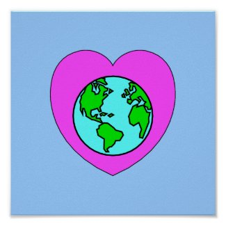 Heart Our Planet Prints and T-Shirts