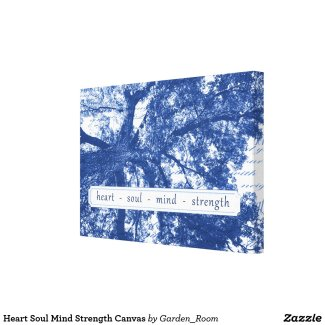 Heart Soul Mind Strength Canvas - Willow tree wall art