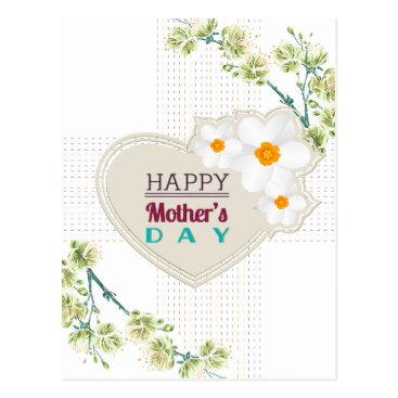 Hearts and Flowers Mother's Day Postcard