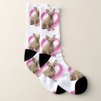 Hearts French bulldog dog socks