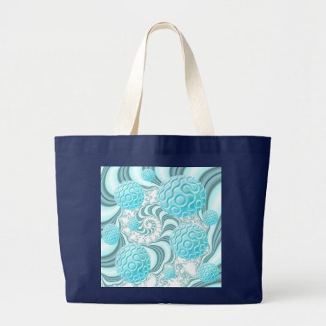 Heavenly Sea Shells, Abstract Pastel Beach Large Tote Bag