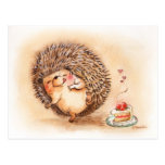 Hedgehog Yum Postcard