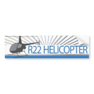 Helicopter Bumper Sticker