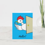 Hello!  Hello! Cartoon Chicken Greeting Card