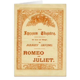 Henry Irving's Romeo & Juliet Greeting Card