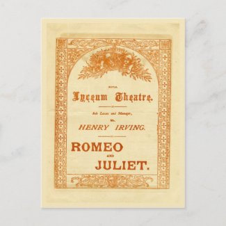 Henry Irving's Romeo & Juliet Post Cards