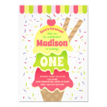 Here's the Scoop Ice Cream Birthday Invitation