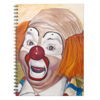 Herky The Clown Spiral Notebook