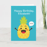 ❤️ Hi Friends! Pineapple Illustration Card