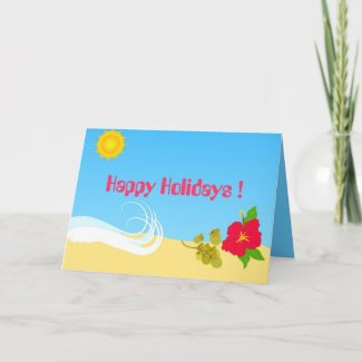 Hibiscus and Sun Card