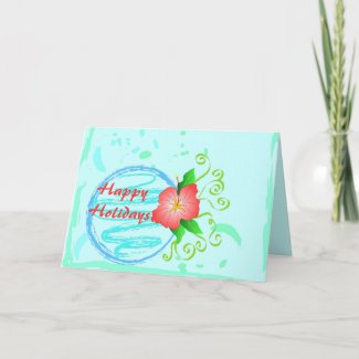 Hibiscus flower - Card