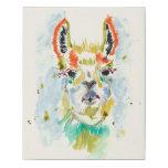 ❤️ Hifi Llama - Portrait Faux Canvas Print