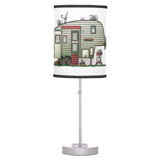 High Tech 5th Wheel Table Lamp
