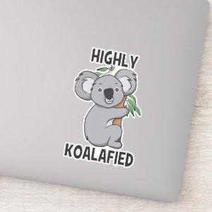 Highly Koalafied Koala Contour Cut Sticker